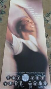 Jenny Thompson Tisha Venturini Wendy Ward autographed Honda NCAA Award Winners poster
