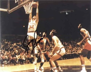 Jerry Lucas autographed New York Knicks 8x10 photo