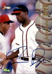 Jermaine Dye 1995 Classic 5-Sport certified autograph card