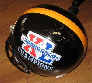 Jerome Bettis autographed Pittsburgh Steelers Super Bowl 40 Champions full size helmet