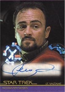 Jeremy Roberts Star Trek certified autograph card