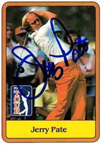 Jerry Pate autographed 1981 Donruss golf card