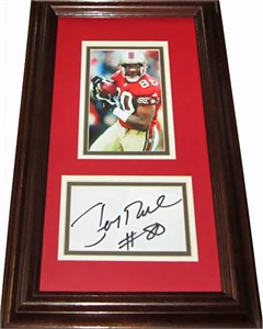 Jerry Rice autograph matted & framed with San Francisco 49ers 3x5 photo