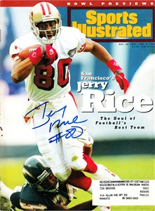 Jerry Rice autographed San Francisco 49ers 1994 Sports Illustrated