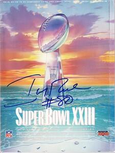 Jerry Rice autographed Super Bowl 23 program
