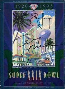 Jerry Rice Steve Young Ken Norton Jr. autographed Super Bowl 29 game program
