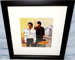 Jerry Seinfeld autographed puffy shirt photo matted & framed