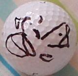 Jesper Parnevik autographed Titleist golf ball