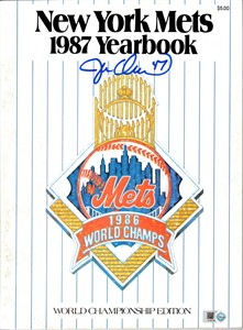 Jesse Orosco autographed New York Mets 1987 Yearbook (MLB authenticated)