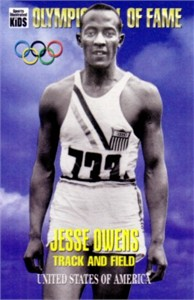 Jesse Owens Olympic Hall of Fame Sports Illustrated for Kids card