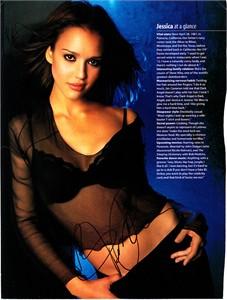 Jessica Alba autographed sexy Maxim full page magazine photo
