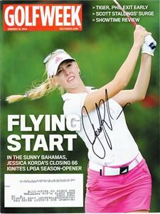 Jessica Korda autographed 2014 Golfweek magazine