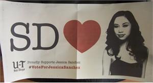 Jessica Sanchez 2012 American Idol San Diego Union-Tribune poster