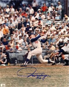 Jeff Torborg autographed 8x10 Los Angeles Dodgers photo