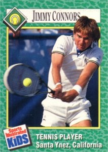 Jimmy Connors 1990 Sports Illustrated for Kids card
