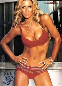 Jillian Barberie autographed FHM full page bikini photo
