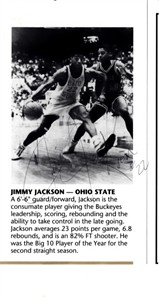 Jim Jackson autographed Ohio State Buckeyes basketball program cut signature
