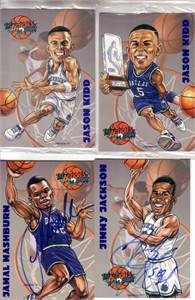 Jim Jackson & Jamal Mashburn autographed Dallas Mavericks 1996 card set