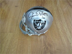Jim Plunkett & Rod Martin autographed Oakland Raiders mini helmet