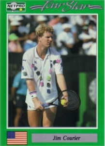 Jim Courier 1991 Netpro Rookie Card