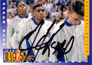 Jim Jackson autographed Dallas Mavericks 1993-94 Upper Deck card