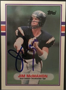 Jim McMahon autographed Philadelphia Eagles 1991 Action Packed All-Madden card