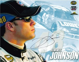 Jimmie Johnson autographed NASCAR 8x10 photo