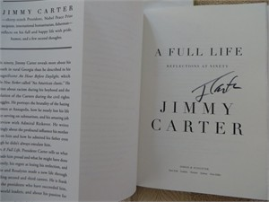 Jimmy Carter autographed A Full Life first edition hardcover book