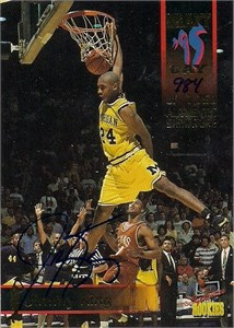 Jimmy King certified autograph Michigan Fab Five 1995 Classic card