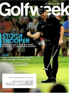 Jimmy Walker autographed 2016 PGA Championship Golfweek magazine