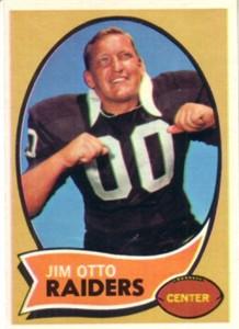Jim Otto 1970 Topps card ExMt/NrMt
