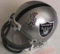 Jim Otto autographed Oakland Raiders mini helmet