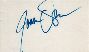 Joan Osborne autographed index card