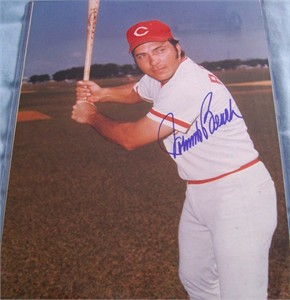 Johnny Bench autographed Cincinnati Reds 11x14 photo
