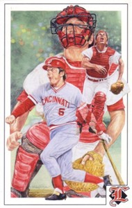 Johnny Bench Cincinnati Reds 1992 Legends Magazine postcard