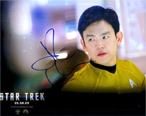 John Cho autographed Star Trek 8x10 Sulu photo