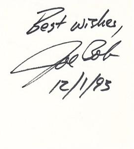 Joe Bob Briggs autograph (cut signature)