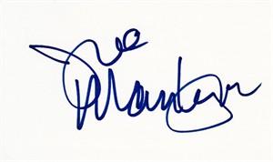 Joe Mantegna autographed index card