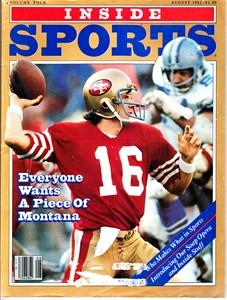 Joe Montana San Francisco 49ers 1982 Inside Sports magazine