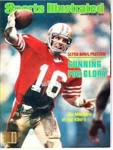 Joe Montana San Francisco 49ers Super Bowl 16 preview 1982 Sports Illustrated