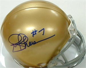 Joe Theismann autographed Notre Dame Fighting Irish mini helmet