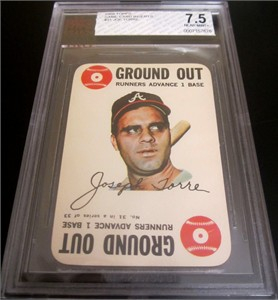 Joe Torre Atlanta Braves 1968 Topps Game #31 graded BVG 7.5 NrMt+ (BGS)