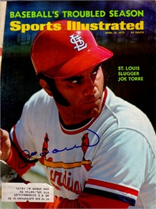 Joe Torre autographed St. Louis Cardinals 1972 Sports Illustrated