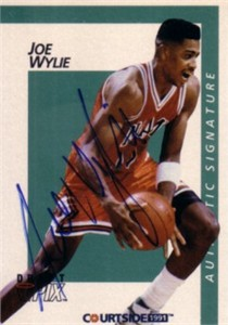 Joe Wylie Miami certified autograph 1991 Courtside card