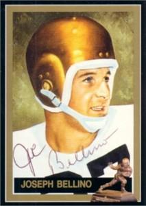 Joe Bellino autographed Navy 1960 Heisman Trophy card