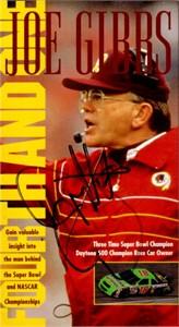 Joe Gibbs autographed Washington Redskins Fourth and One VHS video