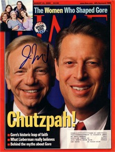Joe Lieberman autographed 2000 Time magazine