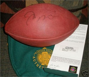 Joe Montana autographed Wilson NFL game football (UDA)