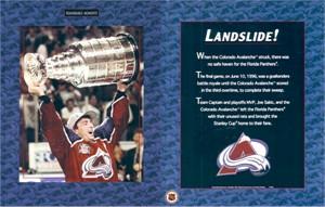 Joe Sakic Colorado Avalanche 1996 Stanley Cup 8x10 celebration photo