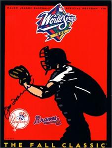 Joe Torre autographed 1999 World Series program